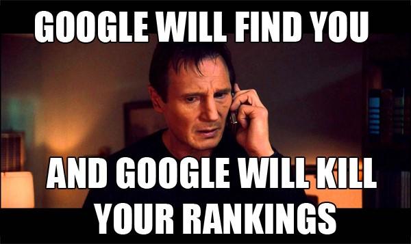 電商SEO-垃圾郵件廣告-Google