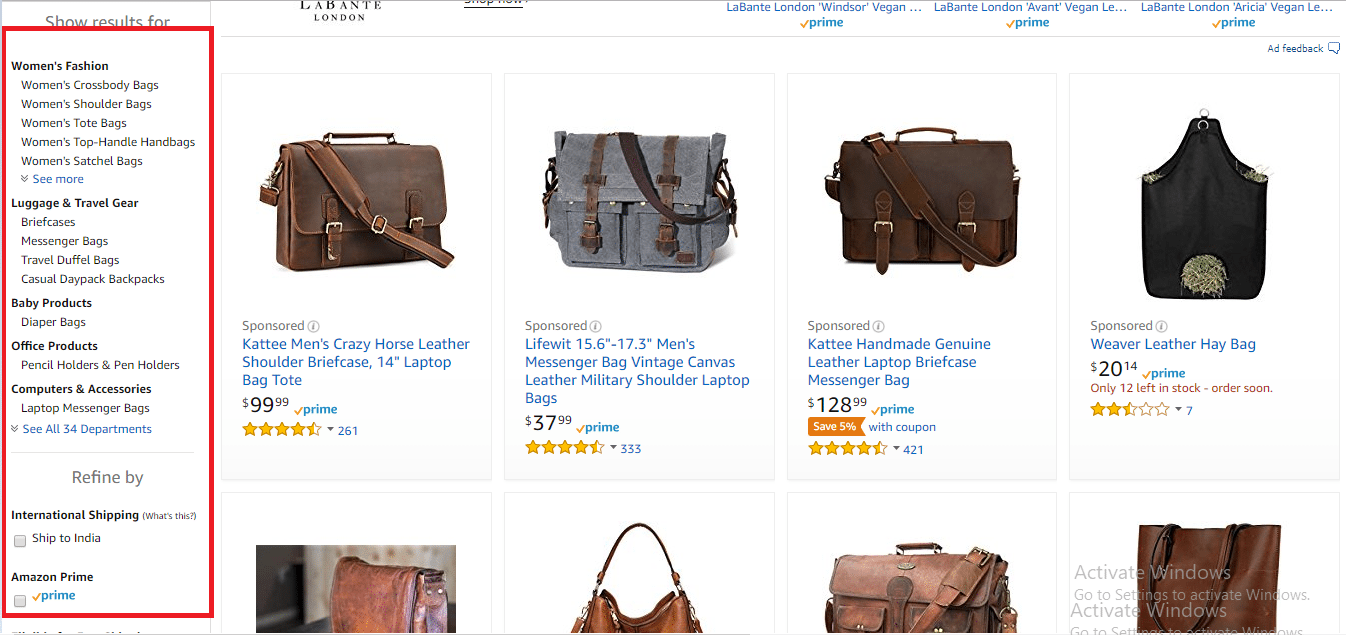 Amazon-product-page-filters