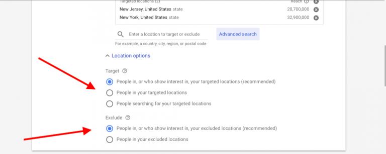 Google 關鍵字廣告投放受眾設定
