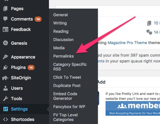 Wordpress PermaLlink Setting